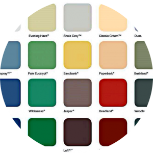 Colorbond Colourful