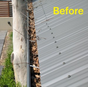Colorbond on a Corrugated Roof - Before