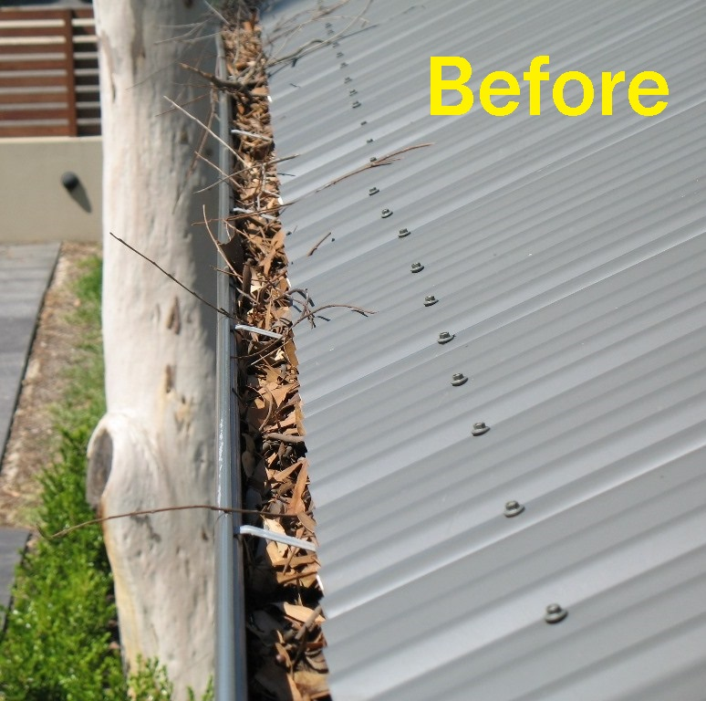 Before Image of Corrugated Roof