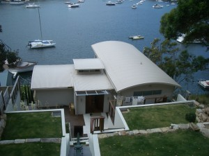 2a - GumLeaf Colorbond Installed on a Waterfront Home - BEFORE